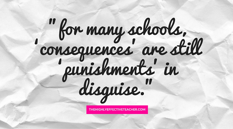 Why punishement is ineffective behaviour management blog quote