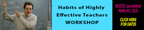 Habits of Highly Effective Teachers Workshops Click here for dates