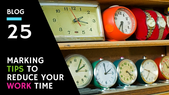 Marking Tips To Reduce Your Work Time In The Classroom