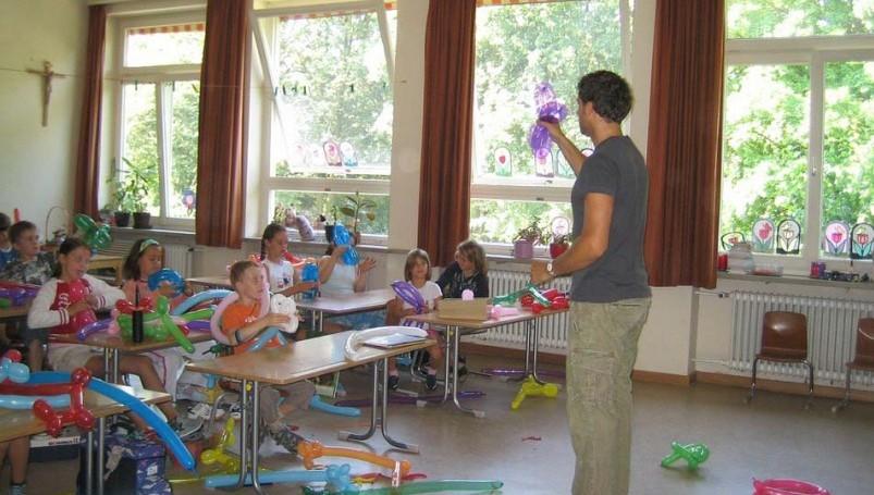 students having fun in the classroom