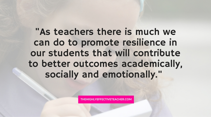 How To Promote Resilience In Your Students quote